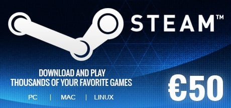 Steam Wallet 50 EUR GLOBAL