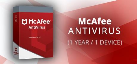 MCAFEE ANTIVIRUS (1 YEAR / 1 DEVICE)