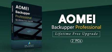 AOMEI Backupper Professional Edition + Lifetime Upgrade (2 PCs license)