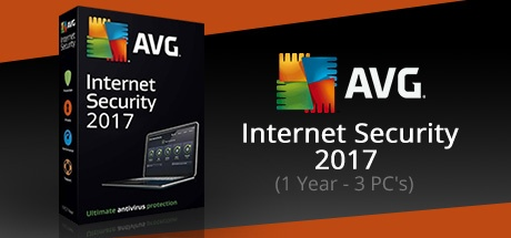 AVG Internet Security 2017 (3 PC's- 1 Year)