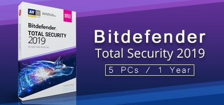Bitdefender Total Security 2019 5 PCs - 1 Year