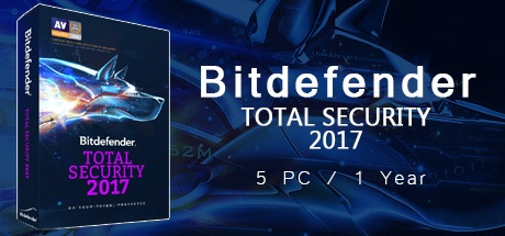 Bitdefender Total Security 2017 5 PC 1 Year