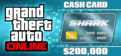 Buy Grand Theft Auto Online: Tiger Shark Cash Card - 200.000$ DLC ROCKSTAR for Rock Star Club PC
