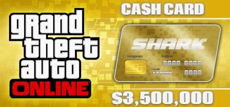 Grand Theft Auto Online: The Whale Shark Cash Card - 3,500,000$ DLC ROCKSTAR