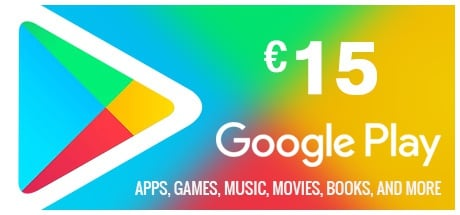 Google Play Gift Card 15 EUR EUROPE