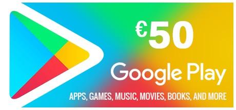 Buy Google Play Gift Card 50 EUR EUROPE for Digital Code