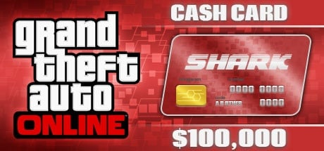 Grand Theft Auto Online: The Red Shark Cash Card - 100,000$ DLC ROCKSTAR