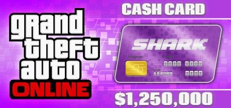 Grand Theft Auto Online: Great White Shark Cash Card - 1,250,000$ DLC ROCKSTAR