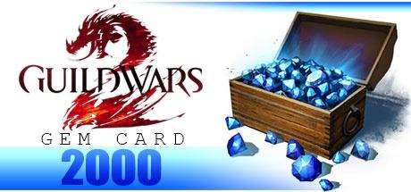 Guild Wars 2 GEMS 2000 GAMECARD GLOBAL