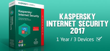 Kaspersky Internet Security 2017 (1 Year / 3 Devices)