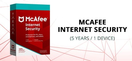 Buy MCAFEE INTERNET SECURITY (5 YEARS / 1 DEVICE) for Software PC
