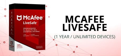 MCAFEE LIVESAFE (1 YEAR / UNLIMITED DEVICES)