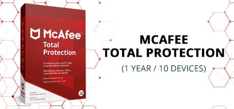 Buy MCAFEE TOTAL PROTECTION (1 YEAR / 10 DEVICES) for Software PC