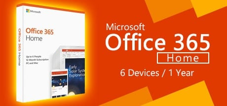 Microsoft Office 365 Home 6-PCs/MACs 1 Year