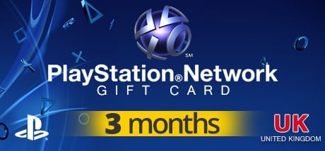 PLAYSTATION NETWORK CARD PLUS 3MONTHS UK