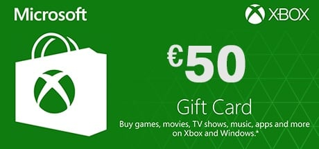 Buy Xbox Live 50 Euro Gift Card for Xbox One / Xbox 360