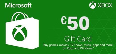 Xbox Live 50 Euro Gift Card