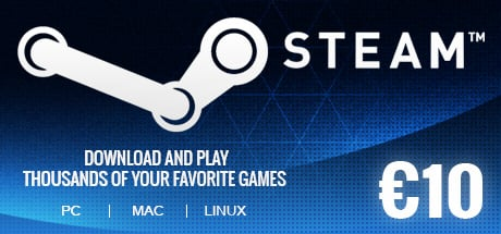 Steam Wallet 10 EUR GLOBAL