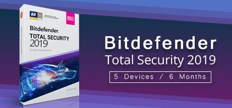 Bitdefender Total Security 2019 5 Devices 6 Months