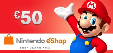 Nintendo eShop Wii 3DS WiiU Switch Gamecard 50 EUR