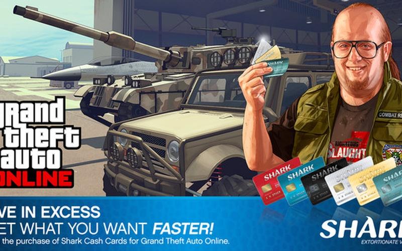Grand Theft Auto Online: Bull Shark Cash Card - 500.000$ DLC ROCKSTAR