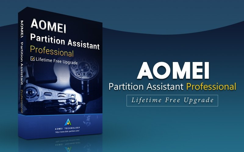 AOMEI Partition Assistant Professional Edition + Lifetime Upgrade