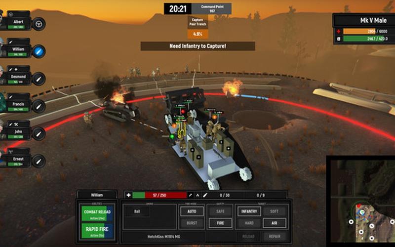 Armored Battle Crew [World War 1] - Tank Warfare and Crew Management  Simulator