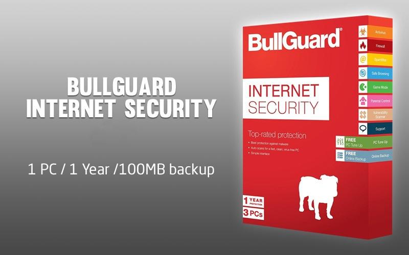 Bullguard Internet Security 1 PC 1 Year /100MB backup