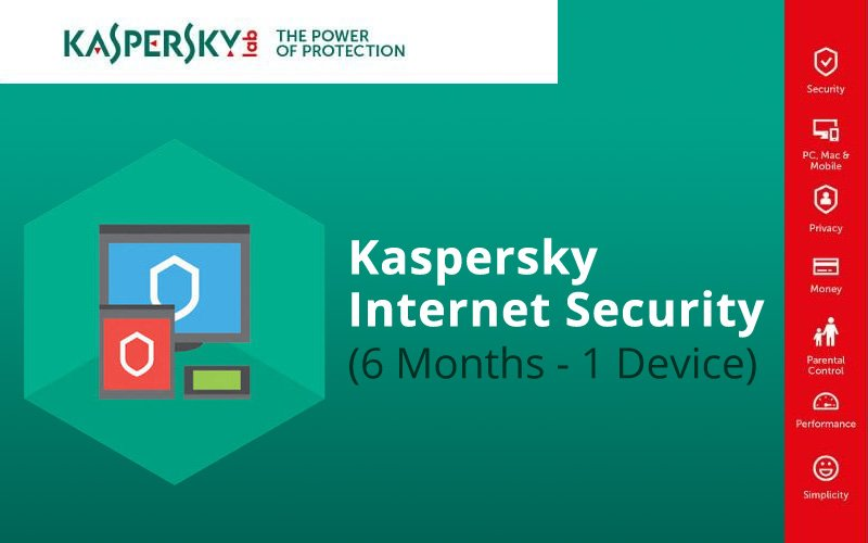 KASPERSKY INTERNET SECURITY (6 MONTHS / 1 DEVICE)