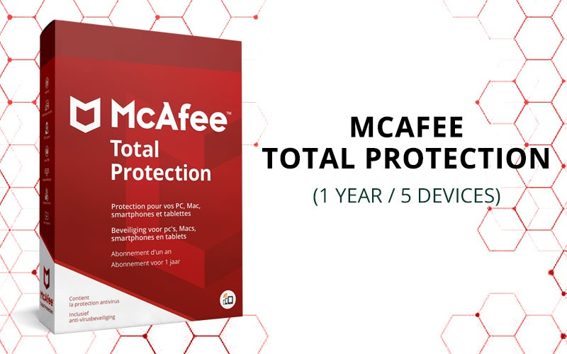 MCAFEE TOTAL PROTECTION (1 YEAR / 5 DEVICES)
