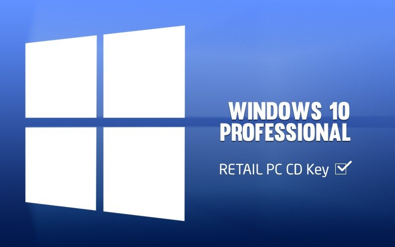 Windows 10 Professional RETAIL PC CD Key