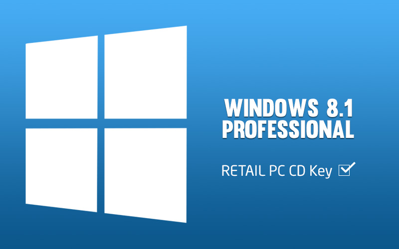 Windows 8.1 Professional RETAIL PC CD Key